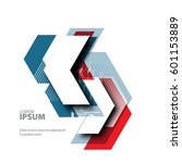 abstract template with clean... | Shutterstock .eps vector #601153889