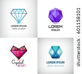 vector set of jewelery logos ... | Shutterstock .eps vector #601158101