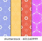 set of 4 vertical elements to... | Shutterstock .eps vector #601160999