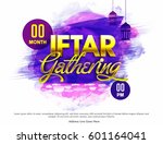 golden text iftar gathering on... | Shutterstock .eps vector #601164041