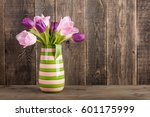 Fresh Colorful Tulips Bouquet...