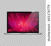 realistic open laptop  notebook ... | Shutterstock .eps vector #601176779