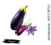 eggplant digital illustration... | Shutterstock . vector #601178711