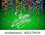 birthday background with... | Shutterstock .eps vector #601179419