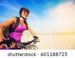 young smiling caucasian woman... | Shutterstock . vector #601188725