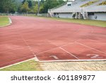 running track numbers in stadium | Shutterstock . vector #601189877