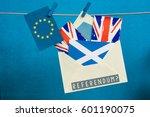 flag of scotland  the saltire   ... | Shutterstock . vector #601190075