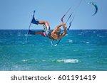 Kitheboarder Kitesurfer Athlet...