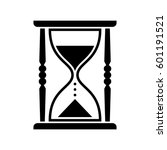 black hourglass vector icon ... | Shutterstock .eps vector #601191521