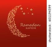 ramadan holiday. moon with... | Shutterstock .eps vector #601194599