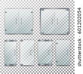 glass door transparent vector.... | Shutterstock .eps vector #601202054