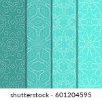 set of 4 vertical e seamless... | Shutterstock .eps vector #601204595