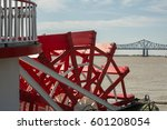 Looking At A Red Paddlewheel...