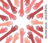 hands coming together vector...   Shutterstock .eps vector #601208141