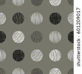 seamless raster geometrical... | Shutterstock . vector #601209017