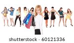 isolated group of beautiful... | Shutterstock . vector #60121336
