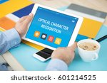 Small photo of OPTICAL CHARACTER RECOGNITION CONCEPT ON TABLET PC SCREEN