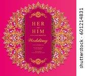 wedding invitation card... | Shutterstock .eps vector #601214831
