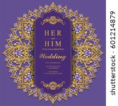 wedding invitation card... | Shutterstock .eps vector #601214879