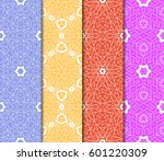 set of 4 vertical elements to... | Shutterstock .eps vector #601220309