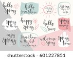 hello spring lettering...   Shutterstock .eps vector #601227851