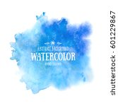 blue abstract watercolor... | Shutterstock .eps vector #601229867