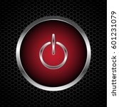 power button with abstract... | Shutterstock .eps vector #601231079