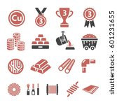 copper icon | Shutterstock .eps vector #601231655