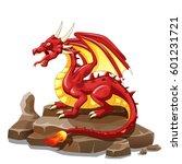 dragon fire animal cartoon.... | Shutterstock .eps vector #601231721