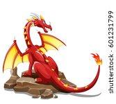 dragon fire animal cartoon | Shutterstock . vector #601231799