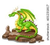 dragon animal cartoon. vector... | Shutterstock .eps vector #601231817