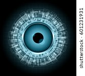 abstract technology digital... | Shutterstock .eps vector #601231931