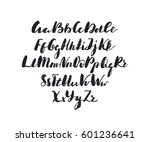 english alphabet. black and... | Shutterstock .eps vector #601236641