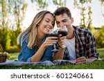 shot of a beautiful couple on... | Shutterstock . vector #601240661