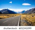 road to mt.cook | Shutterstock . vector #601241099