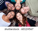 group of friends with their... | Shutterstock . vector #60124567