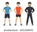man playing sport with... | Shutterstock .eps vector #601248491