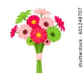 vector bouquet of pink and... | Shutterstock .eps vector #601248707