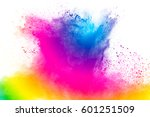 abstract bright colorful powder