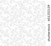 curly seamless vector pattern.  ... | Shutterstock .eps vector #601252139