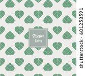 abstract green ficus religiosa... | Shutterstock .eps vector #601253591