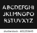 futuristic font. cosmic font.... | Shutterstock .eps vector #601253645