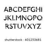 futuristic font. cosmic font.... | Shutterstock .eps vector #601253681