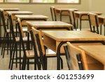 empty school classroom...   Shutterstock . vector #601253699