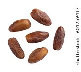 dried dates isolated on white... | Shutterstock .eps vector #601259417