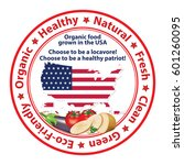 organic food grown in the u.s   ...   Shutterstock .eps vector #601260095