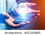 concept view of booking online... | Shutterstock . vector #601265885