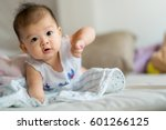 cute asian baby   Shutterstock . vector #601266125