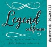 handwritten handcrafted font...   Shutterstock .eps vector #601266755