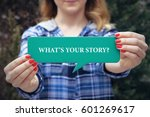 what's your story   business... | Shutterstock . vector #601269617